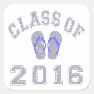 Class Of 2016 Flip Flop Square Sticker