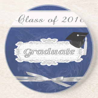 Class of 2016, Graduate, Cap On Pretty Banner, Bow Drink Coaster