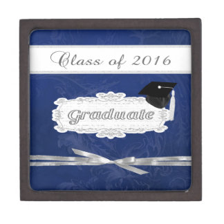 Class of 2016, Graduate, Cap On Pretty Banner, Bow Gift Box