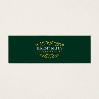 Class of 2016 Graduation Dark Green Mini Business Card