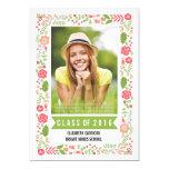 Class of 2016 graduation floral border photo card