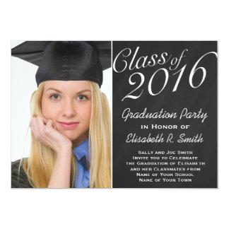 Class of 2016 Graduation Party Chalkboard Portrait Card