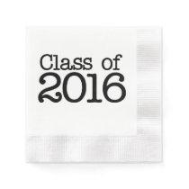 Class of 2016 graduation party paper napkin