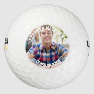 Class of 2016 Graduation Photo Golf Balls