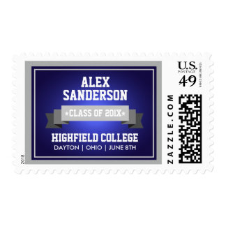 Class of 2016 Graduation Postage Stamp | Blue