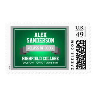 Class of 2016 Graduation Postage Stamp | Green