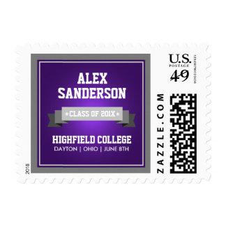 Class of 2016 Graduation Postage Stamp | Purple