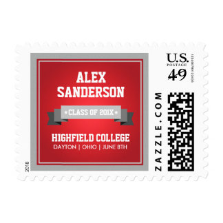 Class of 2016 Graduation Postage Stamp | Red