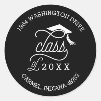 Class of 2016 Graduation Return Address Label Classic Round Sticker