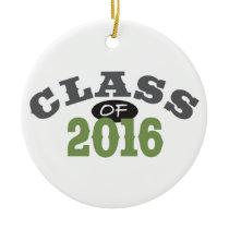 Class Of 2016 Green Ceramic Ornament