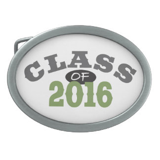 Class Of 2016 Green Oval Belt Buckle