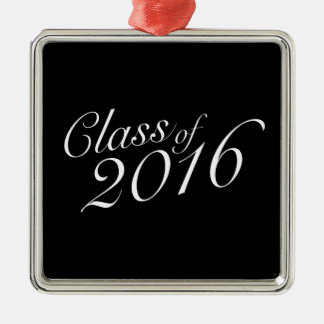Class of 2016 High School Graduate Square Metal Christmas Ornament