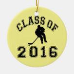 Class Of 2016 Hockey - Black 2 Christmas Ornaments