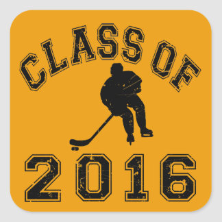 Class of 2016 Hockey Square Sticker