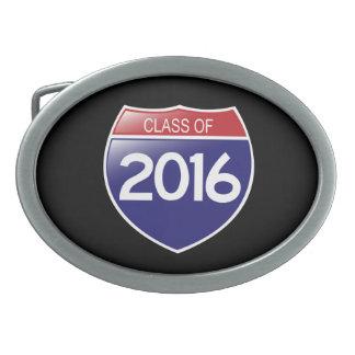 Class of 2016 Interstate Sign Belt Buckle