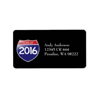 Class of 2016 Interstate Sign Label