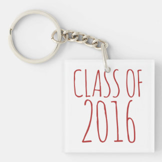 Class of 2016 Single-Sided square acrylic keychain