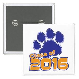 Class of 2016 Orange & Blue Square Button