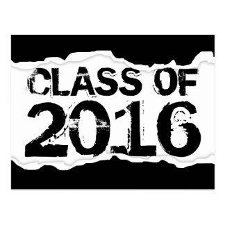 Class of 2016 (page tear) postcard