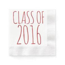 Class of 2016 paper napkin