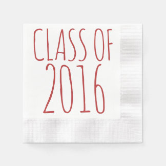 Class of 2016 coined cocktail napkin