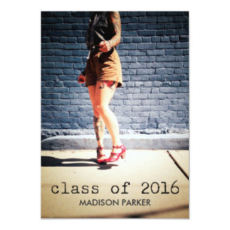 Class of 2016 Photo Graduation Vintage Typewriter Card