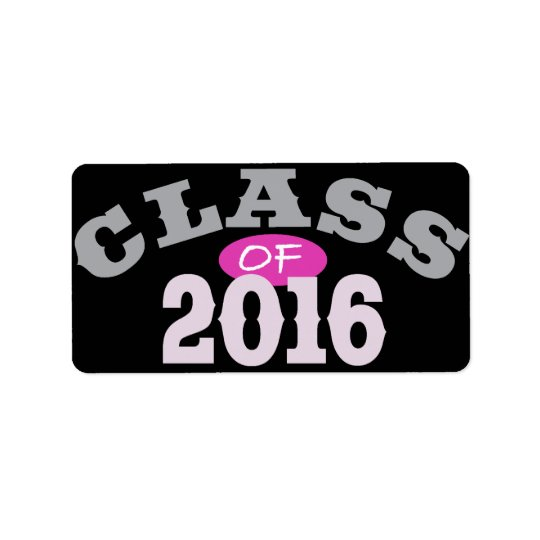 Class Of 2016 Pink Label