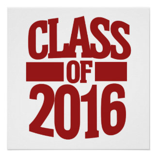 Class of 2016 poster