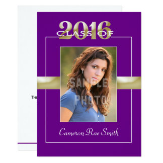 Class of 2016 Purple & Gold Graduation Party Card