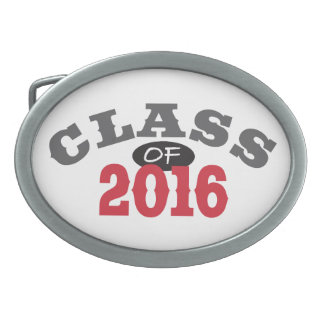 Class Of 2016 Red Belt Buckle