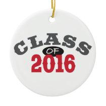 Class Of 2016 Red Ceramic Ornament