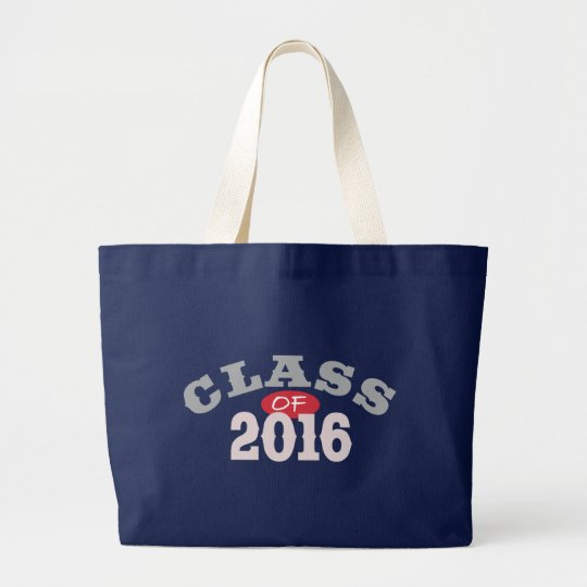 Class Of 2016 Red Large Tote Bag