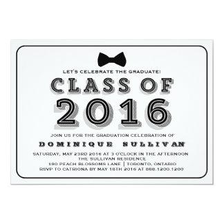 Class of 2016   Retro Typography Graduation Card