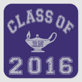 Class Of 2016 RN Square Sticker