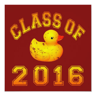 Class of 2016 Rubber Duckie Invitation