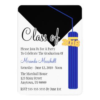 Class Of 2016 Tassel Graduation Invite (Blue)