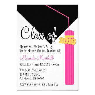 Class Of 2016 Tassel Graduation Invite (Pink)
