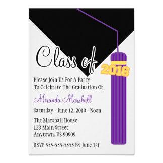 Class Of 2016 Tassel Graduation Invite (Purple)