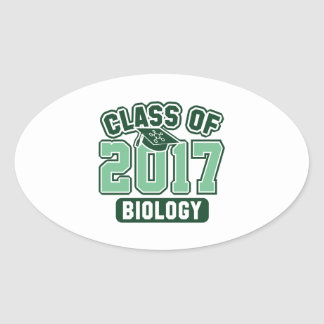 Class Of 2017 Biology Oval Sticker