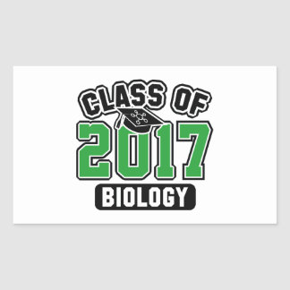 Class Of 2017 Biology Rectangular Sticker