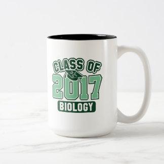 Class Of 2017 Biology Two-Tone Coffee Mug
