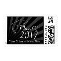 Class of 2017 Black Graduation Custom Stamps