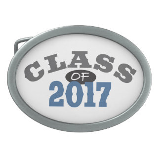 Class Of 2017 Blue Belt Buckle