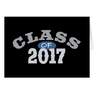 Class Of 2017 Blue Greeting Card