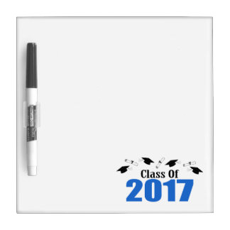Class Of 2017 Caps And Diplomas (Blue) Dry-Erase Board