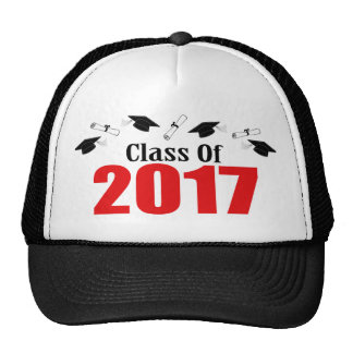 Class Of 2017 Caps And Diplomas (Red)