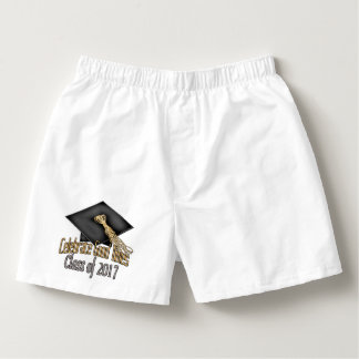 Class of 2017 Celebrate Good Times Graduation Gift Boxers