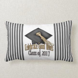 Class of 2017 Celebrate Good Times Graduation Gift Lumbar Pillow