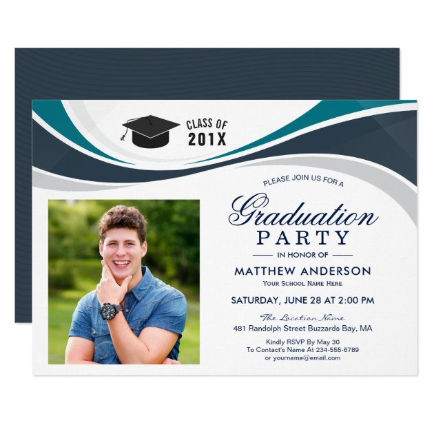 Class of 2017 Graduate Photo Graduation Party Card