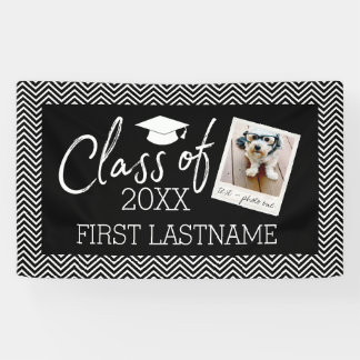 Class of 2017 Graduation 1 Square Photo Chevrons Banner